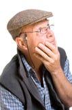 Uomo anziano espressivo Fotografie Stock
