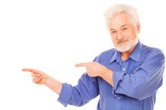Uomo anziano felice con la barba Fotografie Stock Libere da Diritti