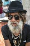 Uomo anziano freddo Fotografia Stock