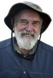 Uomo anziano isolato Fotografia Stock
