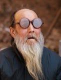 Uomo anziano maschio cinese Fotografia Stock Libera da Diritti