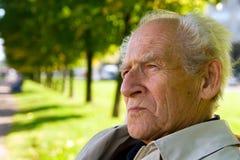 Uomo anziano Pensive serio Fotografia Stock Libera da Diritti