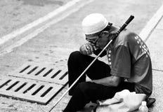 Uomo anziano preoccupato Immagine Stock