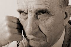Uomo anziano Puritanic Fotografia Stock