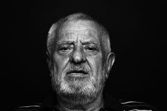 Uomo anziano serio Immagini Stock