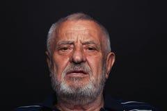 Uomo anziano serio 2 Immagini Stock Libere da Diritti
