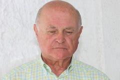 Uomo anziano solo triste Fotografia Stock