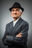 Uomo anziano sorridente Fotografia Stock