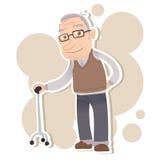 Uomo anziano sorridente Fotografia Stock Libera da Diritti