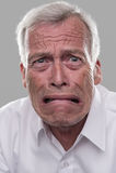 Uomo anziano spaventato Fotografia Stock