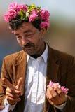 Uomo anziano su Rose Festival bulgara Immagini Stock Libere da Diritti