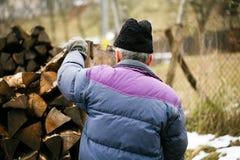 Uomo anziano sul lavoro Fotografia Stock Libera da Diritti