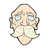 uomo anziano triste del fumetto comico Fotografia Stock