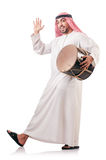Uomo arabo che gioca tamburo Fotografia Stock Libera da Diritti