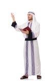 Uomo arabo con il libro Fotografie Stock