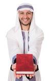 Uomo arabo con il libro Immagini Stock