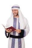 Uomo arabo con il libro Fotografia Stock