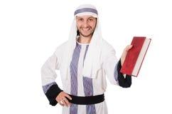 Uomo arabo con il libro Fotografia Stock Libera da Diritti