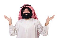 Uomo arabo divertente fotografie stock libere da diritti