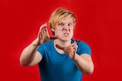 Uomo arrabbiato Fotografia Stock
