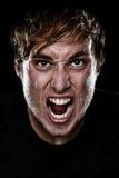 Uomo arrabbiato Fotografie Stock Libere da Diritti