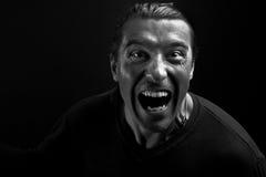 Uomo arrabbiato che grida voi Fotografia Stock Libera da Diritti