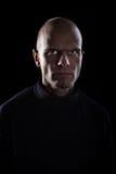 Uomo arrabbiato con gli occhi diabolici Fotografia Stock Libera da Diritti