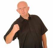 Uomo arrabbiato con il pugno serrato Fotografia Stock Libera da Diritti