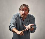 Uomo arrabbiato critico Fotografia Stock