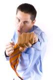 Uomo arrabbiato di affari Fotografia Stock