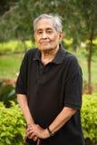 Uomo asiatico anziano Fotografia Stock