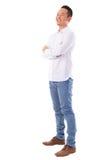 Uomo asiatico che esamina lato Fotografia Stock