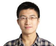 Uomo asiatico con vetro Immagine Stock