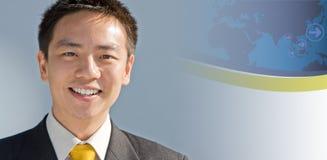 Uomo asiatico di affari Fotografie Stock