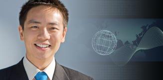 Uomo asiatico di affari Immagini Stock
