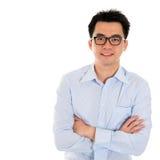 Uomo asiatico di affari isolato Fotografia Stock