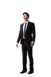 Uomo asiatico di affari sorpreso Fotografie Stock Libere da Diritti