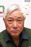 Uomo asiatico maggiore Fotografie Stock