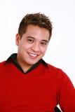 Uomo asiatico nel colore rosso Fotografia Stock Libera da Diritti