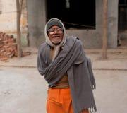 Uomo asiatico povero nei vetri Fotografia Stock Libera da Diritti