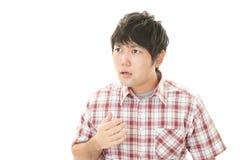 Uomo asiatico sorpreso Immagini Stock Libere da Diritti