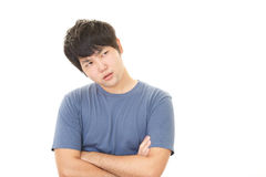 Uomo asiatico stanco Fotografie Stock