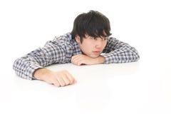 Uomo asiatico stanco Fotografie Stock Libere da Diritti
