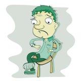 Uomo aspettante del fumetto Immagine Stock