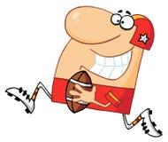 Uomo atletico che gioca football americano Immagini Stock
