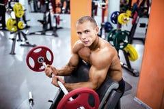 Uomo atletico dell'ente perfetto Fotografia Stock Libera da Diritti