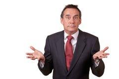 Uomo attraente di affari con l'espressione sorpresa fotografia stock libera da diritti
