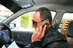 Uomo in automobile Fotografia Stock Libera da Diritti