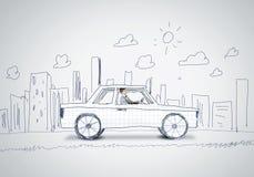 Uomo in automobile Immagine Stock
