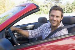 Uomo in automobile Fotografia Stock